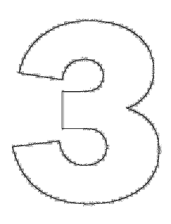 Coloring Pages Numbers 3 THREE