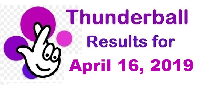 Thunderball results for Tuesday, April 16, 2019