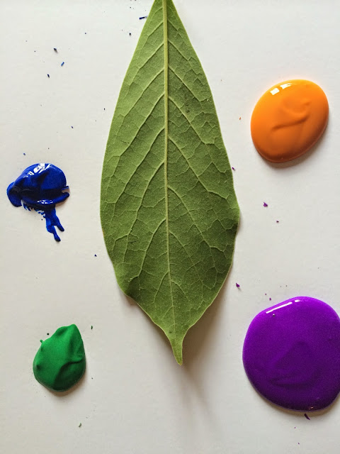 Kids' colorful art