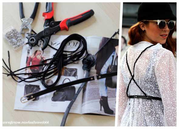 cinturón, tirantes, moda, refashion, customizar