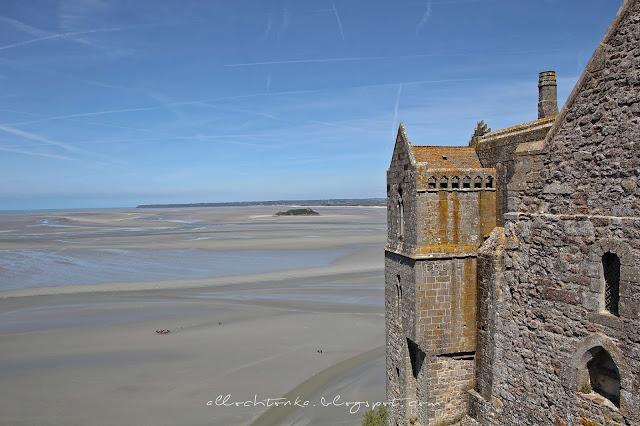 odpływ wokół Mont Saint-Michel