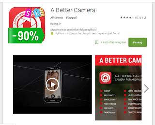 A Better Camera memiliki fitur aplikasi fotografi profesional seperti HD Panorama +.