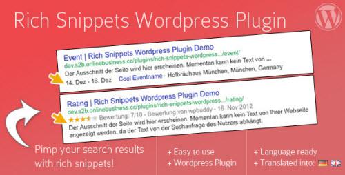 Plugin Rich Snippets WordPress
