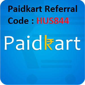 Paidkart Referral Code enter and Earn Free Rs 25 wallet