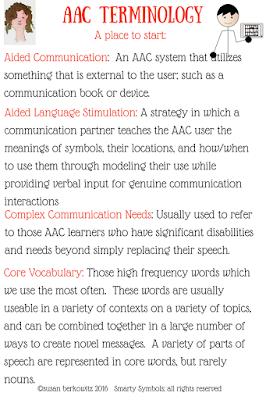 AAC terminology