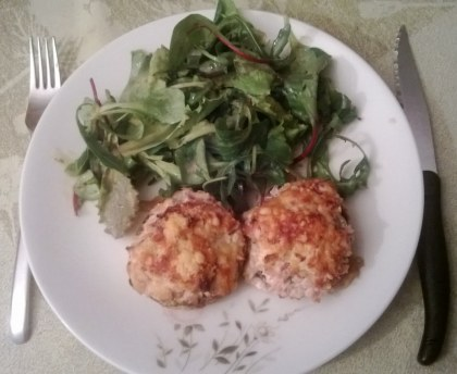 Mushrooms stuffed with boursin and ham