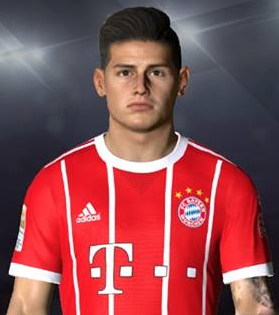 PES 2017 Face & Tattoo James Rodriguez by Facemaker Ahmed El Shenawy