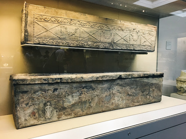 Lead sarcophagus