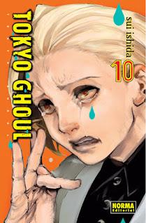 TOKYO GHOUL 10  Manga de Sui Ishida Reseña de Tokyo Ghoul 10 desde Norma Editorial tokyo ghoul en la wikipedia