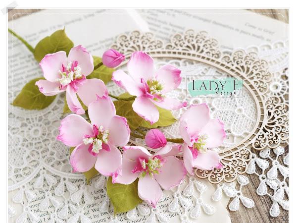 Foamiran Apple Blossom Flowers