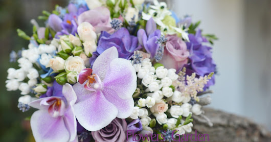 Beautiful Purple and Blue Weeding Bouquet