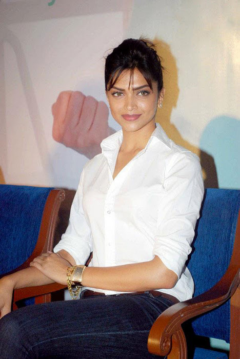 Deepika Padukone Photos In White Shirt