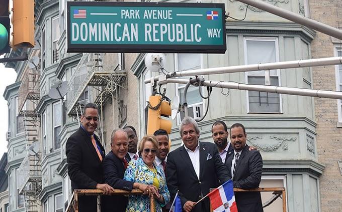 """Una esquina  de la avenida Park en New Jersey ahora se llama """"Dominican Republic Way"""""""