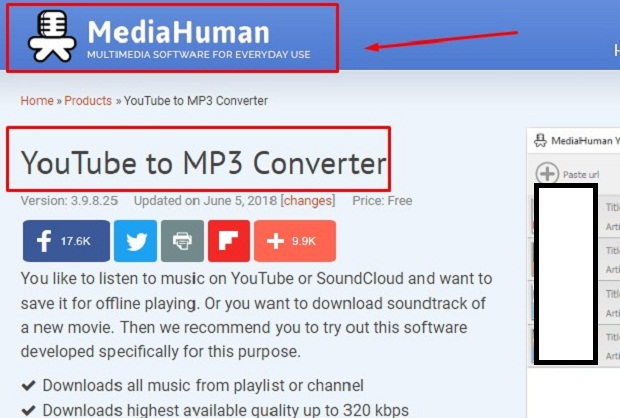 Cara Download Video Youtube ke MP3 Lewat Hp / PC Lewat MediaHuman 2019