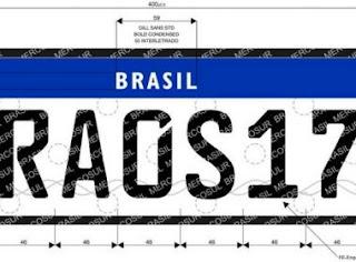 Brasil deve adotar placas de veículos no modelo do Mercosul a partir de dezembro