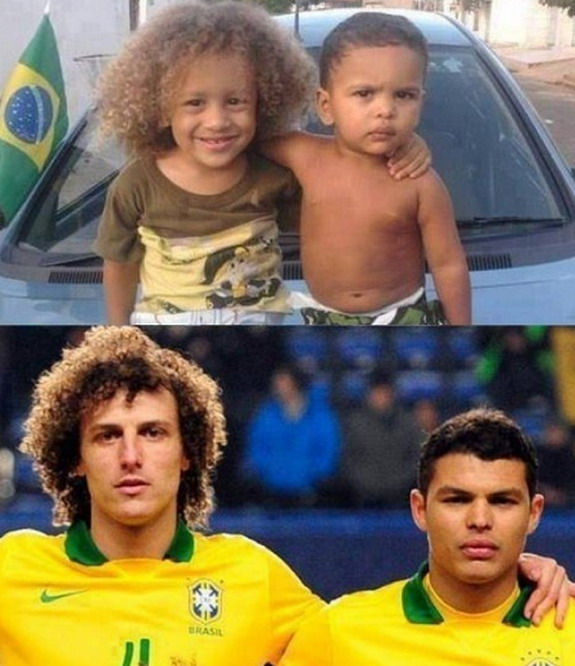 Mini-versions of David Luiz & Thiago Silva