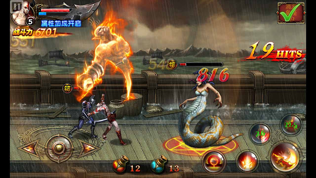 jadi kini kau sudah sanggup memainkan game god of war di hp android kau Cheat God of War Android Mobile Edition Mega Mod Semua Senjata Terbuka
