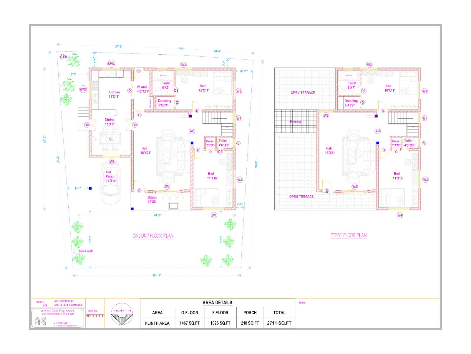 Vastu Building Floor Plan Local Body Approval Plan