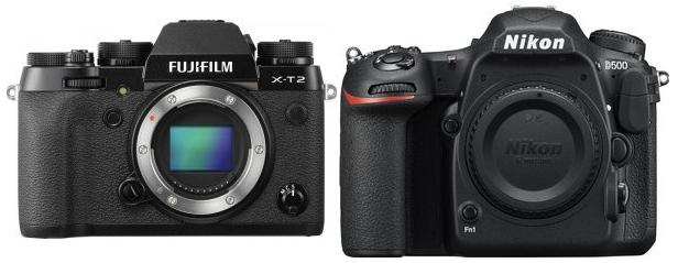 Сравнение Fujifilm X-T2 и Nikon D500