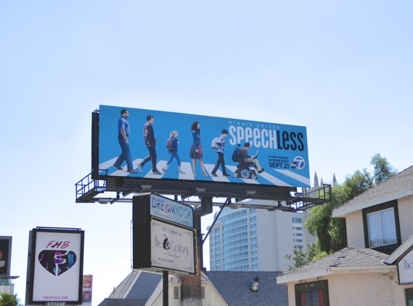 Speechless TV series billboard