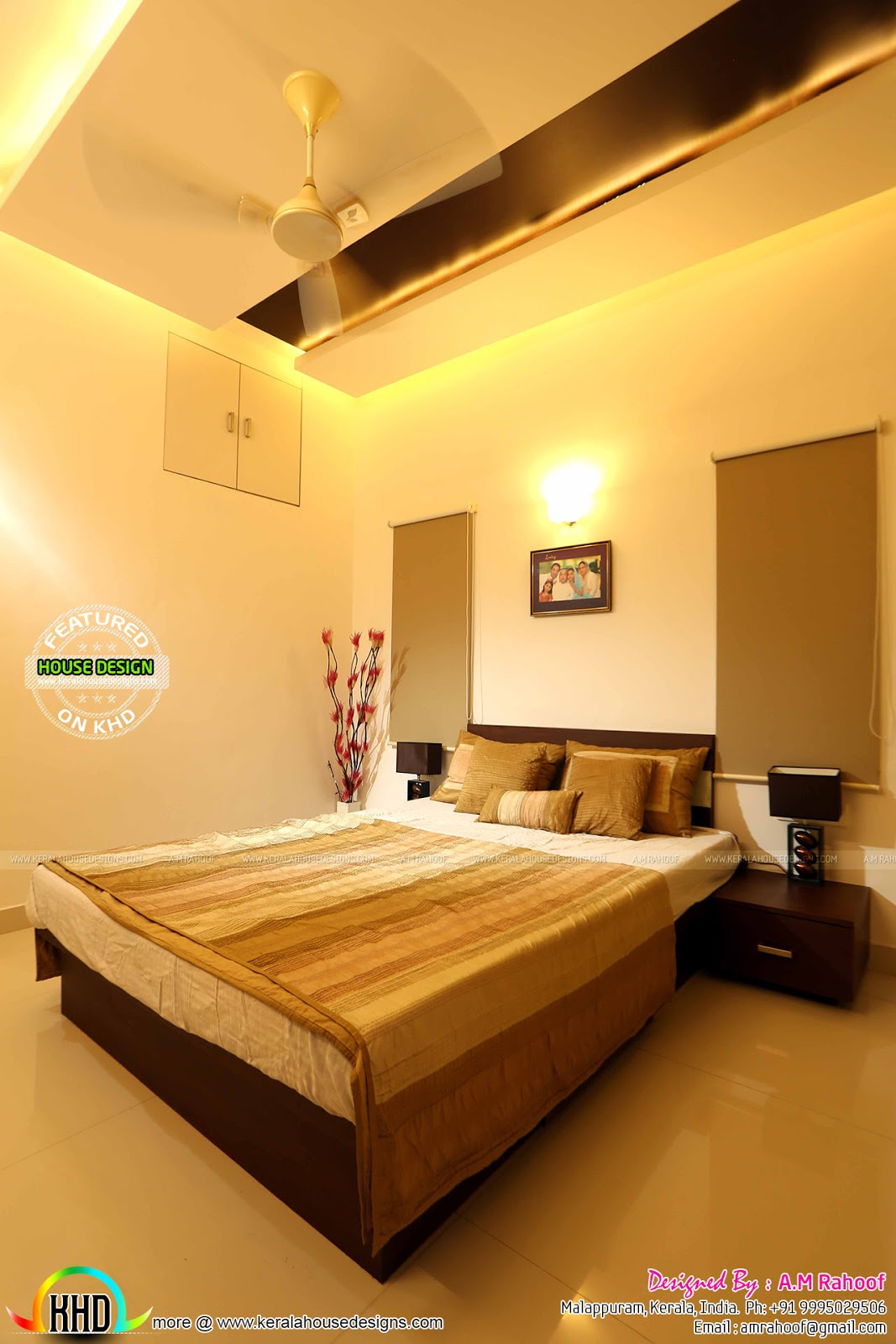 Interier Bedroom Work Finished Furnished House With Interiors Kerala