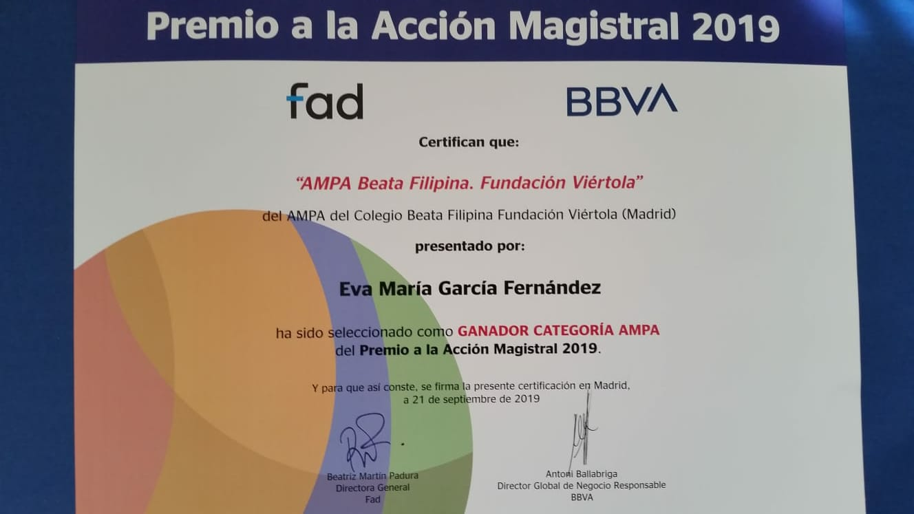 Premio Acción Magistral 2019
