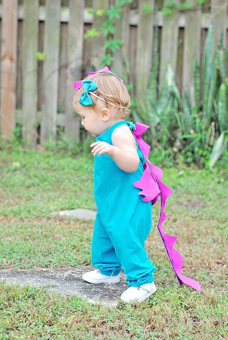 Delainey The Dragon Our Diy Baby Dragon Halloween Costume