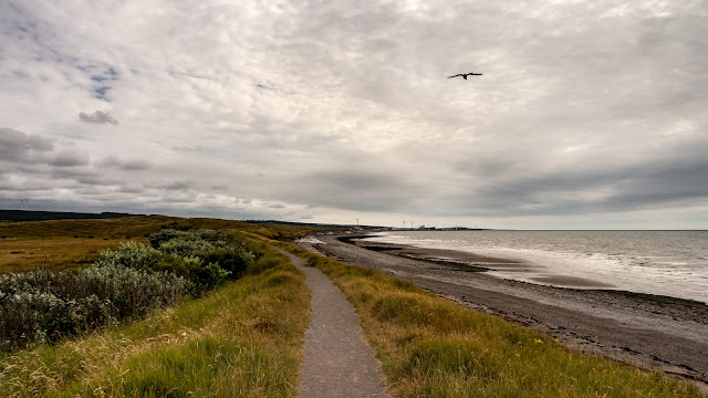 Photo of cloudy weather on a walk along the coastal path towards Flimby on Saturday afternoon
