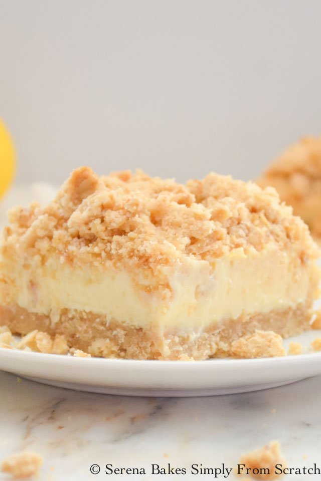 Lemon Cheesecake Crumb Bars serenabakessimplyfromscratch.com