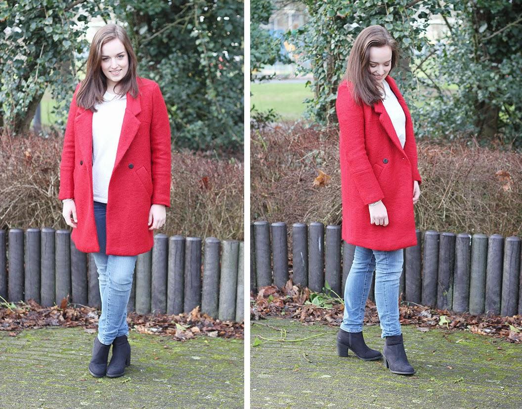 Rode Winterjas.Outfit Mijn Nieuwe Rode Winterjas The Budget Life De Beste