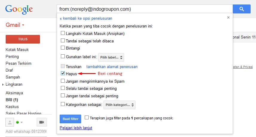 Block Alamat Email Dengan Gmail (Google Mail) 4