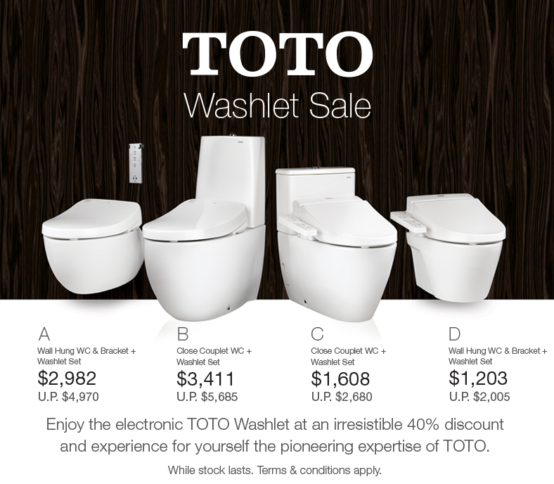 Tua Lobang: TOTO Washlet Sale, till 13 August 2016