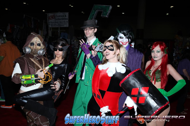 Cosplay: Scarecrow, Cat Woman, The Riddler, The Joker, Harley Quinn and Poison Ivy