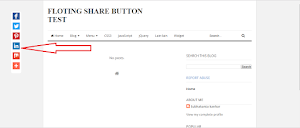 Blog par Floating Social Sharing Widget kaise lagaye in hindi