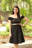 Mannara Chopra in Short Off Shoulder Black Dress ~  Exclusive 070.JPG