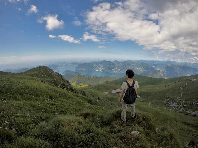monte guglielmo camminata vista lago d'Iseo