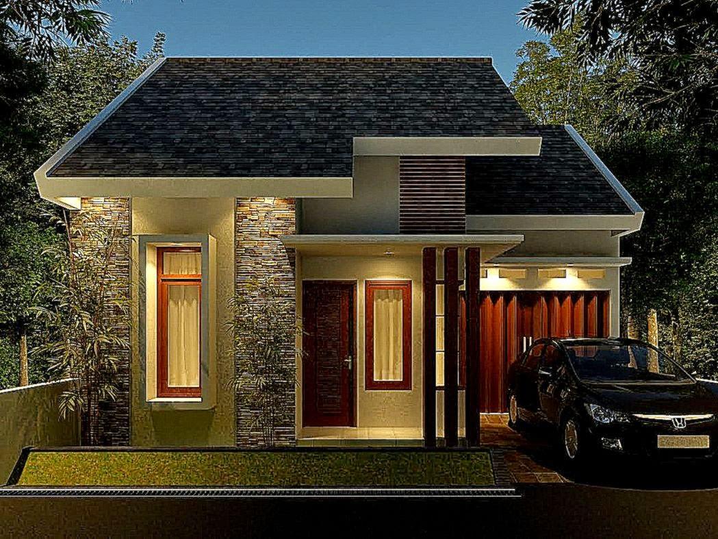 103 Denah Rumah Minimalis Modern 1 Lantai Dengan Garasi Gambar