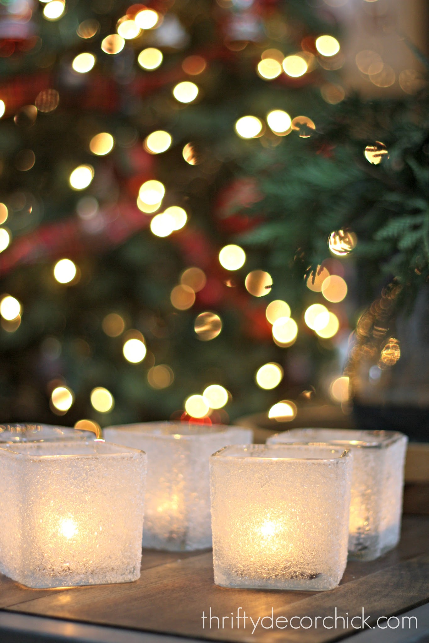 Epsom salt snow candles