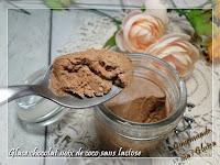 Glace chocolat et noix de coco sans lactose sans oeuf