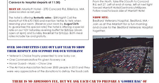 13TH ANNUAL VETTES TO VETS