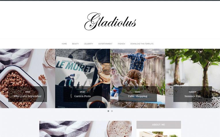 Gladiolus Free Blogger Template
