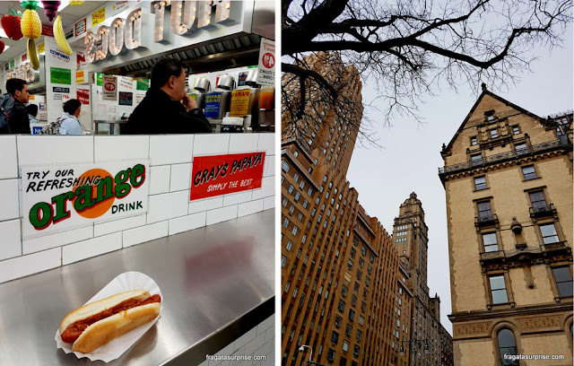 Hot dog do Gray's Papaya, em Nova York