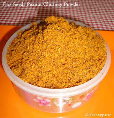 flax seeds and peanuts chutney powder is ready to serve