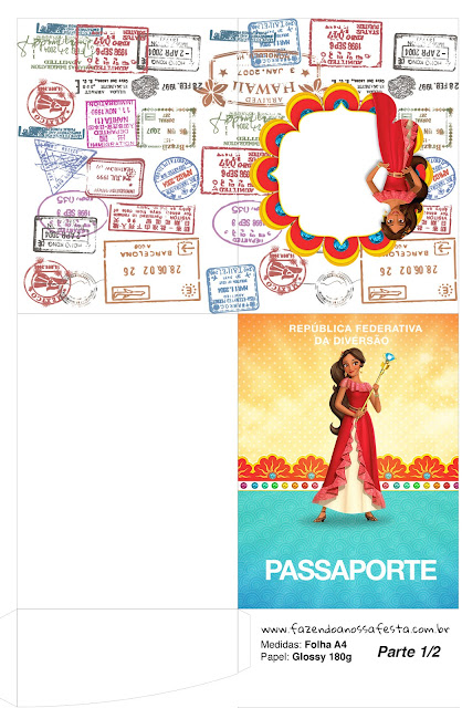Imprimible con forma de Pasaporte de Elena de Avalor.