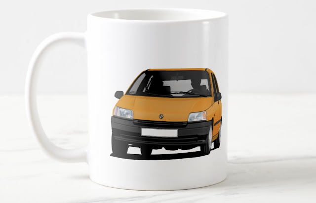 Zazzle Renault Clio illustration coffee mugs