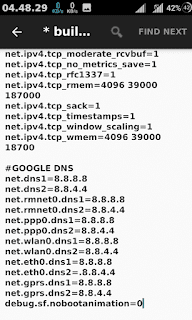 changing dns on android build prob