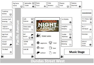 Junction Night Market Vendor's Map 2016