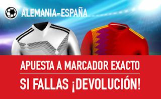 sportium Promocion Alemania vs España 23 marzo