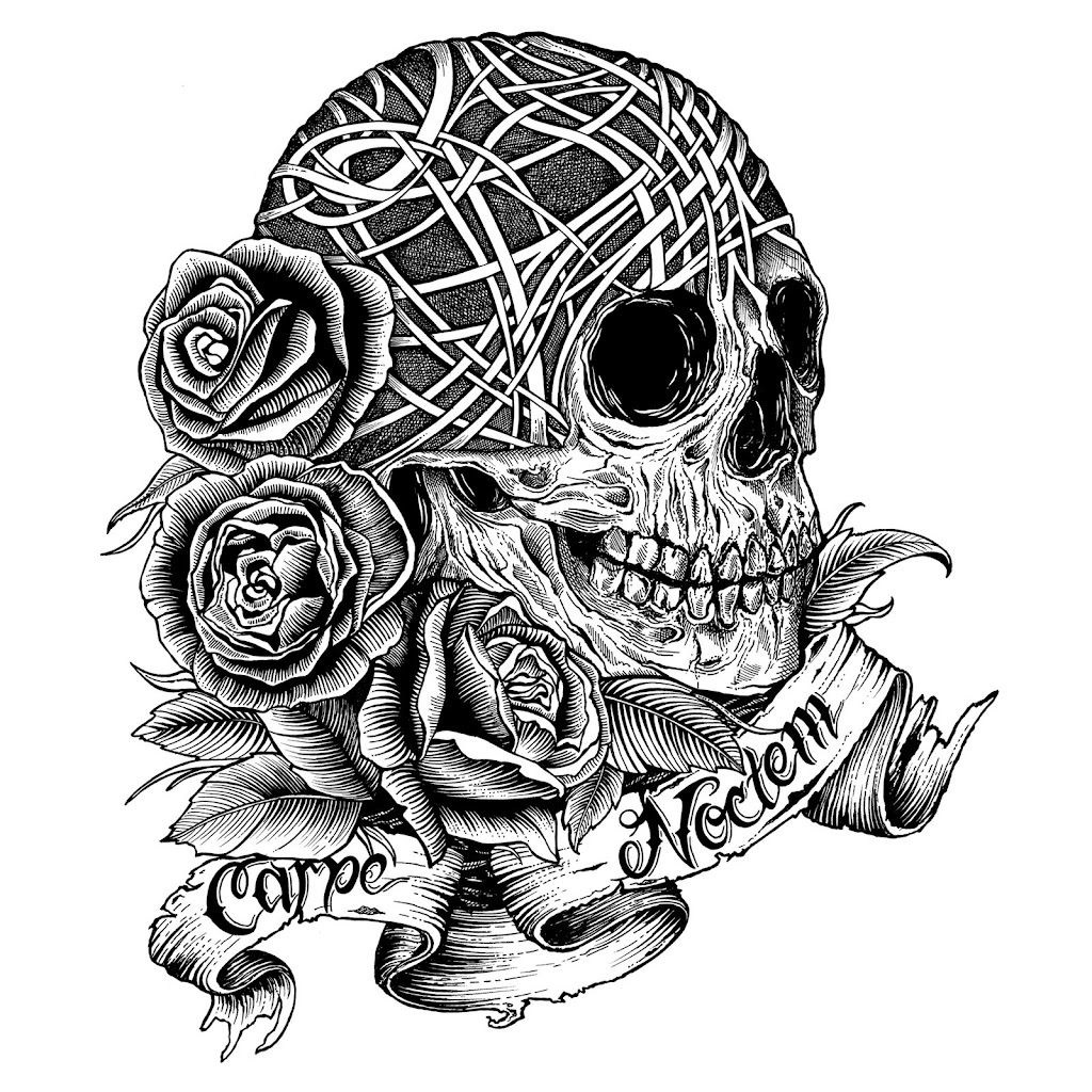 Unique rose and skull coloring pages drawing big for Skull coloring pages