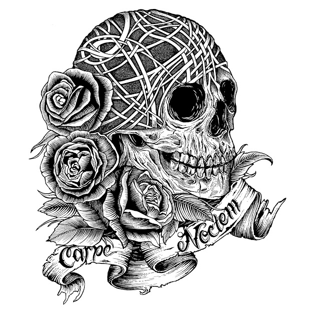 Skull And Rose Coloring Pages Skullroses